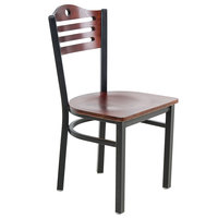 Lancaster Table & Seating Mahogany Finish Bistro Dining Chair - Detached Seat