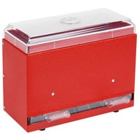 Vollrath 3825-02 Straw Boss Single Sided Bulk Unwrapped Straw Dispenser - Red