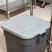 Continental 2801GY Huskee 32 Gallon Gray Square Trash Can Lid