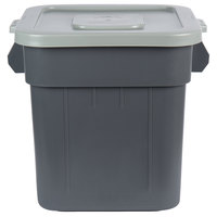 Continental Huskee 32 Gallon Gray Square Trash Can and Lid