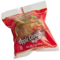 Muffin Town Smart Choice 2 oz. Individually Wrapped Apple Cinnamon Muffin   - 72/Case