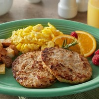Hatfield Chef Signature 4 oz. Pork Sausage Patties - 10 lb.