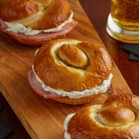 Dutch Country Foods 3 inch Pretzel Slider Roll - 120/Case