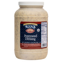 Ken's Foods 1 Gallon Poppyseed Dressing - 4/Case