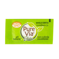 Pure Via All-Natural Stevia Sweetener 1 Gram Packets - 1000/Case
