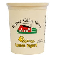 Pequea Valley Farm 32 oz. Lemon Yogurt - 6/Case
