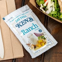 Ken's Foods 1.5 oz. Fat Free Ranch Dressing Packet - 60/Case