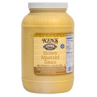 Ken's Foods 1 Gallon Honey Mustard Sauce - 4/Case