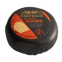 Castello 6 oz. Smoked Baby Gouda Cheese in Black Wax - 12/Case
