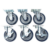 Cooking Performance Group 5 inch Plate Casters - 6/Set