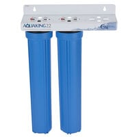 C Pure AQUAKING22 20 inch Dual Cartridge Water Filtration System - 10 Micron Rating and 3 GPM