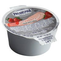 Philadelphia 1 oz. Strawberry Cream Cheese Portion Cup - 100/Case
