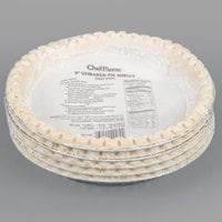 Chef Pierre 9 inch Deep Dish Unbaked Pie Shell - 20/Case