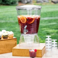 Choice 2.5 Gallon Acrylic Beverage Dispenser with Ice Chamber