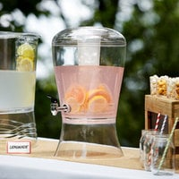 Choice 3 Gallon Acrylic Beverage Dispenser with Ice Core and Fruit Infuser