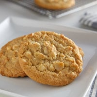 David's Cookies 3 oz. Preformed White Chocolate Macadamia Cookie Dough - 107/Case