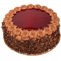 Pellman 9 inch Raspberry Chocolate Cake - 4/Case