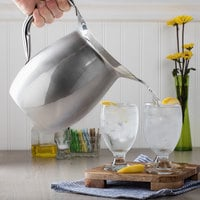 Acopa 96 oz. Smooth Stainless Steel Bell Pitcher with Ice Guard