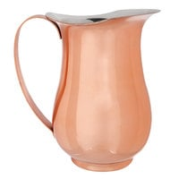 Acopa 64 oz. Satin Copper Stainless Steel Slender Bell Pitcher