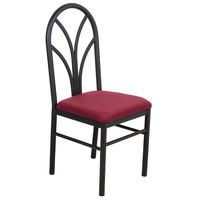 Lancaster Table & Seating Maroon 4 Spoke Restaurant Dining Room Chair with 1 3/4 inch Padded Seat - Detached Seat