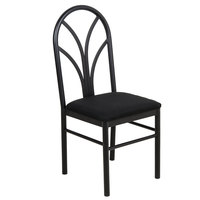 Lancaster Table & Seating Black 4 Spoke Restaurant Dining Room Chair with 1 3/4 inch Padded Seat - Detached Seat