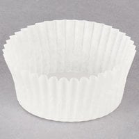 Hoffmaster 610021 2 inch x 1 inch White Fluted Baking Cup - 500/Pack