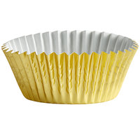Ateco 6431 2 inch x 1 1/4 inch Gold Baking Cups - 200/Box