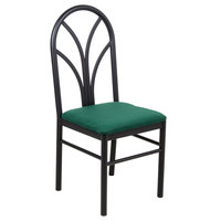 Lancaster Table & Seating Green 4 Spoke Restaurant Dining Room Chair with 1 3/4 inch Padded Seat - Detached Seat