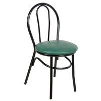 Lancaster Table & Seating Green Hairpin Cafe Chair with 1 1/4 inch Padded Seat - Detached Seat