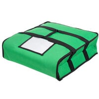 Choice Insulated Deli Tray / Party Platter Bag, Green Nylon, 18 inch x 18 inch x 5 inch