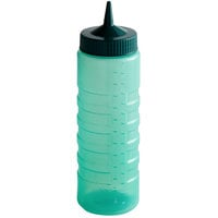 Vollrath 4924C-191 Traex® Color-Mate™ 24 oz. Green Single Tip Ridged Wide Mouth Squeeze Bottle