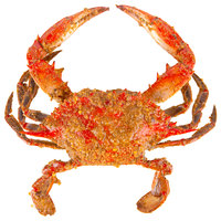 Linton's 5 3/4 inch Heavily Seasoned Steamed Large Maryland Blue Crabs - 36/Case