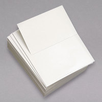 Domtar 851055RM 8 1/2 inch x 11 inch White 5 1/2 inch Perfed Custom-Cut Copy Paper Case - 500/Ream