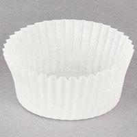 Hoffmaster 610021 2 inch x 1 inch White Fluted Baking Cup - 10000/Case