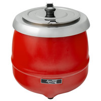 Avantco S30RD 11 Qt. Round Red Countertop Food / Soup Kettle Warmer - 120V, 400W