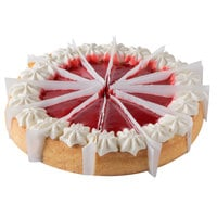 Pellman 48 oz. 9 inch Pre-Cut Strawberries 'N Cream Cheesecake - 6/Case