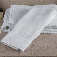 Oxford Regale 16 inch x 30 inch 100% 2-Ply Combed Cotton Hand Towel with Dobby Border 5 lb. - 96/Case