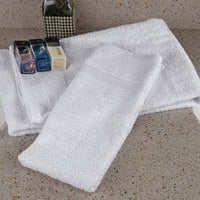 Oxford Bronze 16 inch x 27 inch 100% Open End Cotton Hand Towel with Cam Border 2.75 lb. - 12/Pack