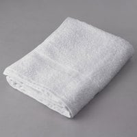 Oxford Bronze 24 inch x 48 inch 100% Open End Cotton Bath Towel with Cam Border 8 lb. - 12/Pack