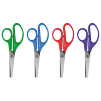 Universal UNV92023 5 inch Stainless Steel Blunt Tip Kids' Scissors - 12/Pack