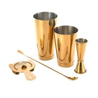 Barfly M37101GD Basic 5-Piece Gold-Plated Cocktail Kit