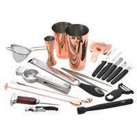 Barfly M37102CP Deluxe 19-Piece Copper-Plated Cocktail Kit