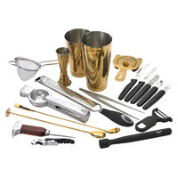 Barfly M37102GD Deluxe 19-Piece Gold-Plated Cocktail Kit
