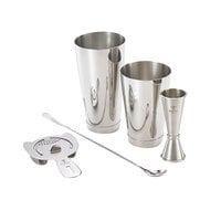 Barfly M37101 Basic 5-Piece Stainless Steel Cocktail Kit