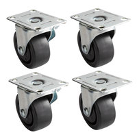 3 inch Swivel Plate Casters for Beverage-Air DW49 Series - 4/Set