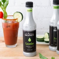 Monin 375 mL Cucumber Concentrated Flavor
