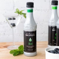 Monin 375 mL Mint Concentrated Flavor
