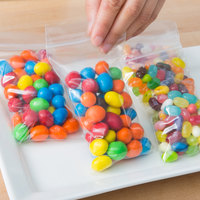 Plastic Food Bag 3 inch x 5 inch Seal Top - 1000/Box