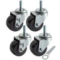Beverage-Air 61C01-018D-01 Equivalent 3 inch Swivel Stem Casters for Beverage-Air LV Series - 4/Set