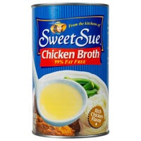 Sweet Sue 49.5 oz. Chicken Broth   - 12/Case